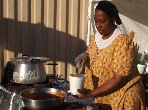 African Village Food Booth at Tucson Gem Show