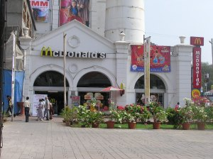 Americans find some familiar sights in Mumbai--McDonald's.