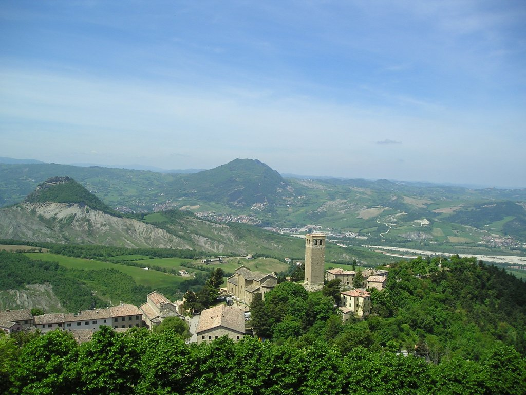 View from San Leo Castle, Le Marche, Italy