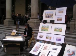 Today's Artist at Uffizi Courtyard