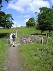 Ken climbs the Cashel hill in Ireland