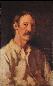 Robert Louis Stevenson by Girolamo Nerli (1892) from Wikipedia