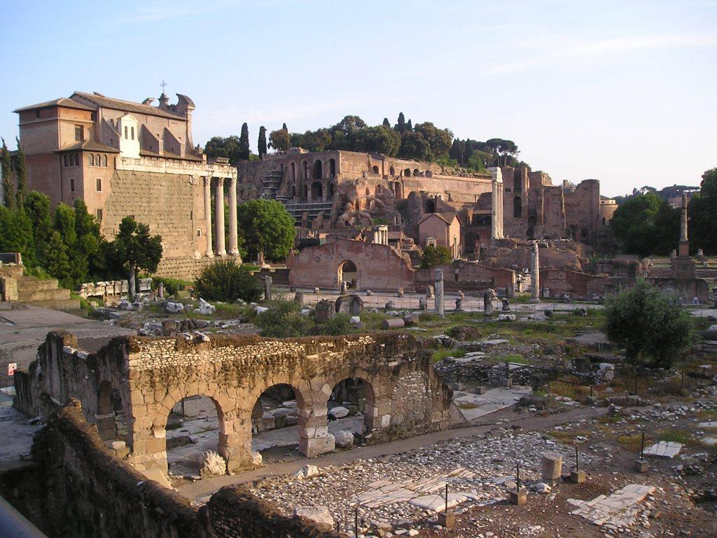 Roman Forum evening shadows